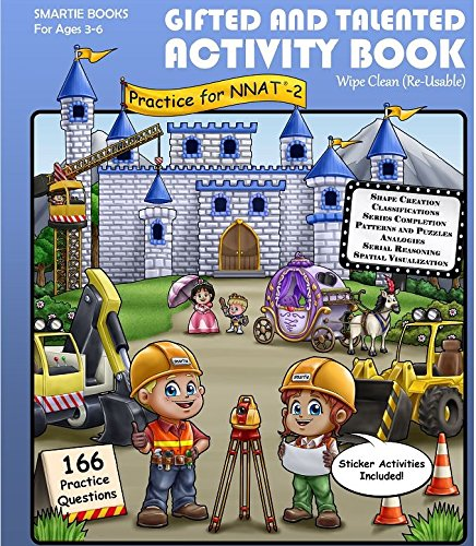 Gifted and Talented Test Preparation: WIPE CLEAN Activity Book Workbook (reusable) for Children Ages 3-6 in preschool through kindergarten; G&T NNAT-2; ...